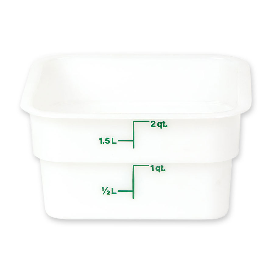 Cambro 2SFSP148 2-qt CamSquare Food Container - Natural White