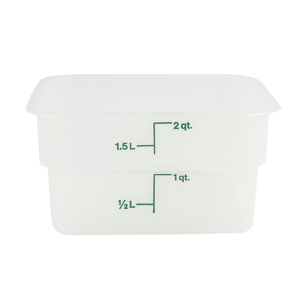 Cambro 2SFSPP190 2-qt CamSquare Food Container - Translucent