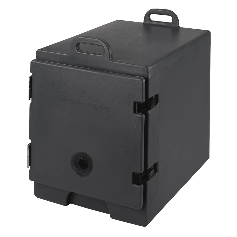 "Cambro 300MPC110 Camcarrier Food Pan Carrier - 12x20"" Pan, Front-Loading, Black"