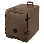 "Cambro 300MPC131 Camcarrier Food Pan Carrier - 12x20"" Pan, Front-Loading, Dark Brown"