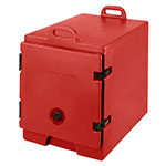 "Cambro 300MPC158 Camcarrier Food Pan Carrier - 12x20"" Pan, Front-Loading, Hot Red"