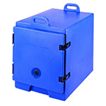 "Cambro 300MPC186 Camcarrier Food Pan Carrier - 12x20"" Pan, Front-Loading, Navy Blue"