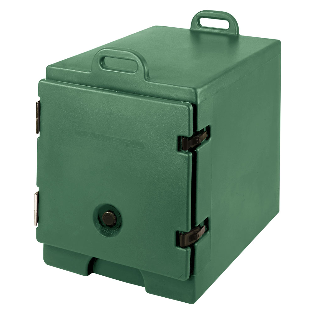 "Cambro 300MPC519 Camcarrier Food Pan Carrier - 12x20"" Pan, Front-Loading, Green"