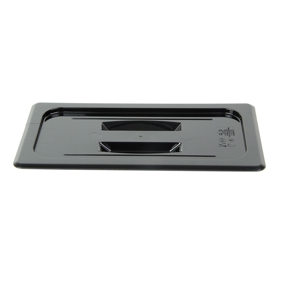 Cambro 30CWCH110 Camwear Food Pan Cover - 1/3 Size, Flat with Handle, Black