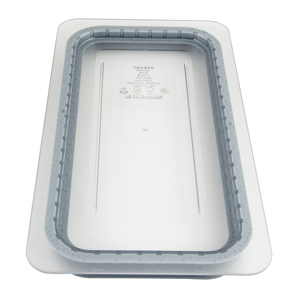 Cambro 30CWGL135 GripLid Food Pan Cover - 1/3 Size, Clear