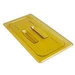 Cambro 30HPCH150 H-Pan Food Pan Cover - 1/3 Size, Non-Stick, Flat with Handle, Amber