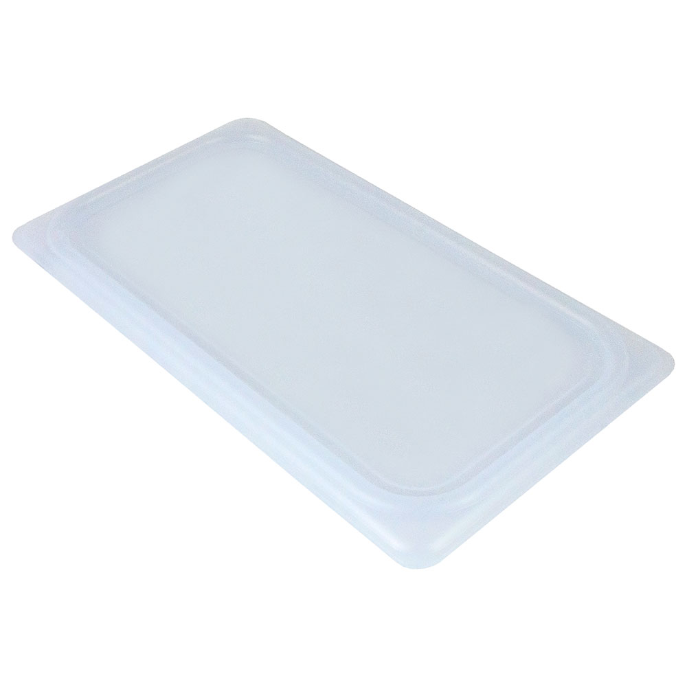 Cambro 20PPCWSC438 1/2-Size Food Pan Seal Cover - Translucent, Polypropylene, Blue, NSF