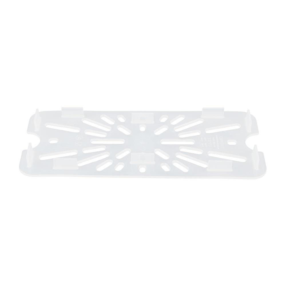Cambro 30PPD190 Food Pan Drain Shelf - 1/3 Size, Translucent