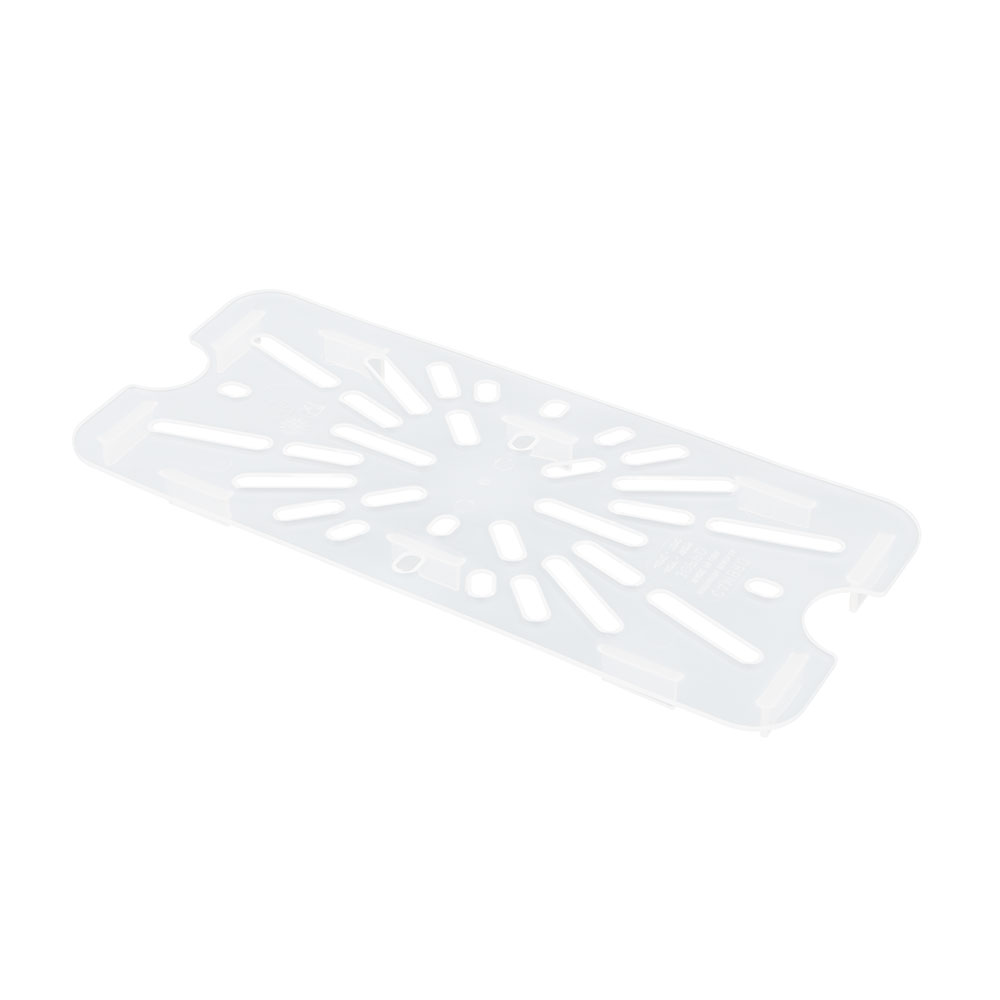 Cambro 30PPD190 Food Pan Drain Shelf - 1/3 Size, Translucent