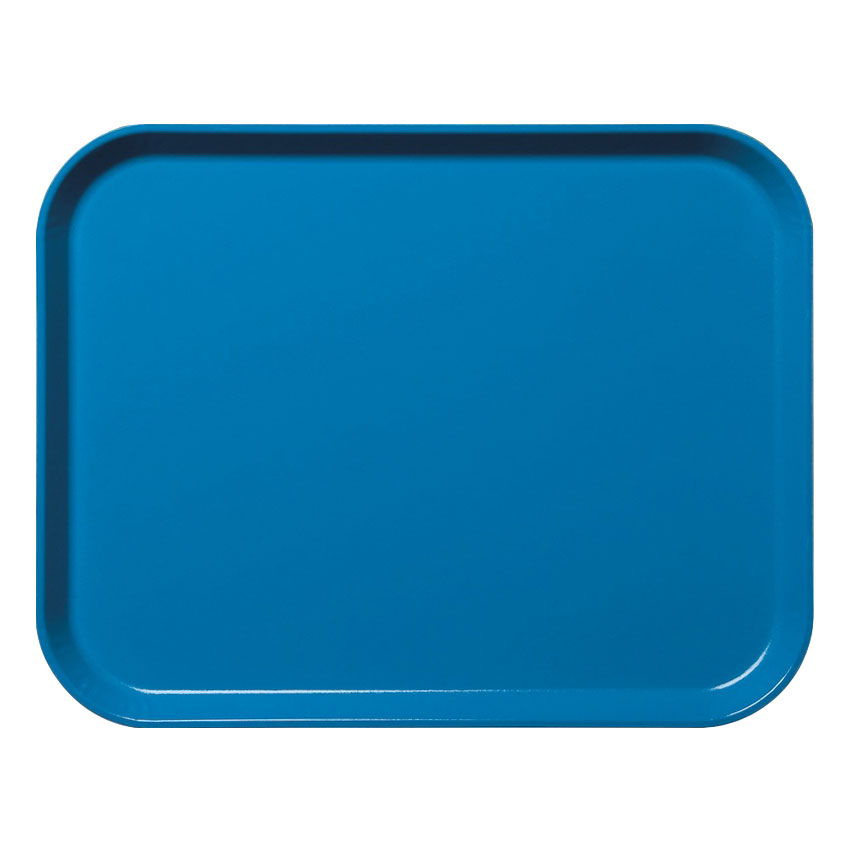 "Cambro 3253CL142 Rectangular Camlite Tray - 12-3/4x21"" Blue"