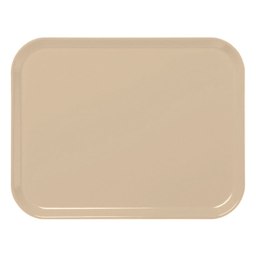 "Cambro 3253CL161 Rectangular Camlite Tray - 12-3/4x21"" Tan"