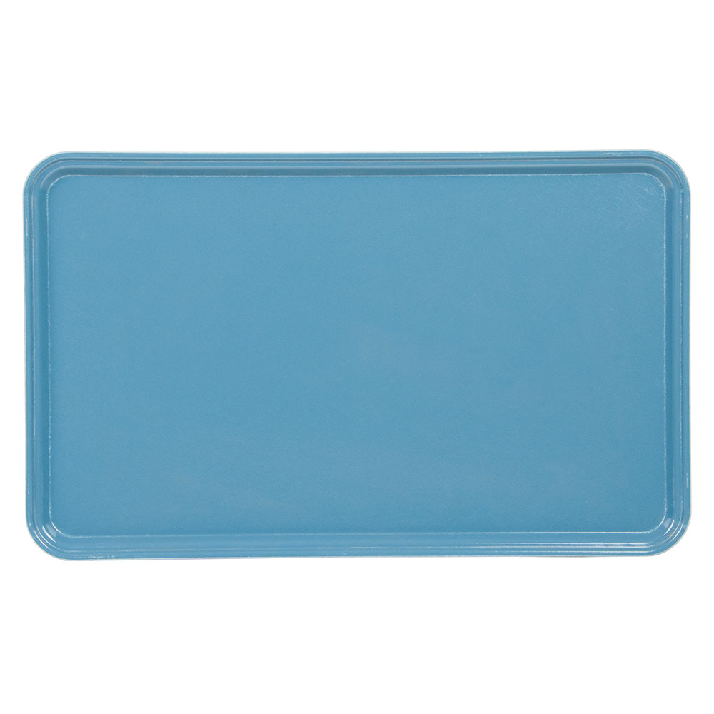 "Cambro 3253CL674 Rectangular Camlite Tray - 12-3/4x21"" Steel Blue"