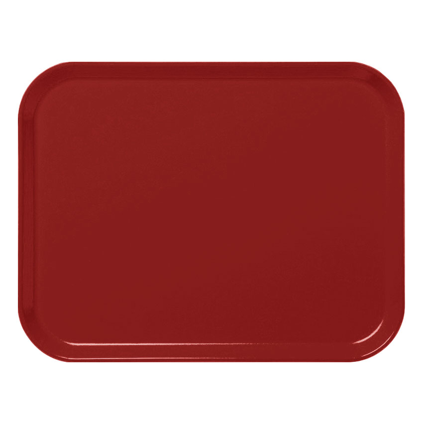 "Cambro 3253CL675 Rectangular Camlite Tray - 12-3/4x21"" Steel Red"