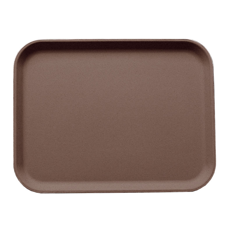 "Cambro 3253CT138 Rectangular Camtread Serving Tray - 12-3/4x21"" Tavern Tan"
