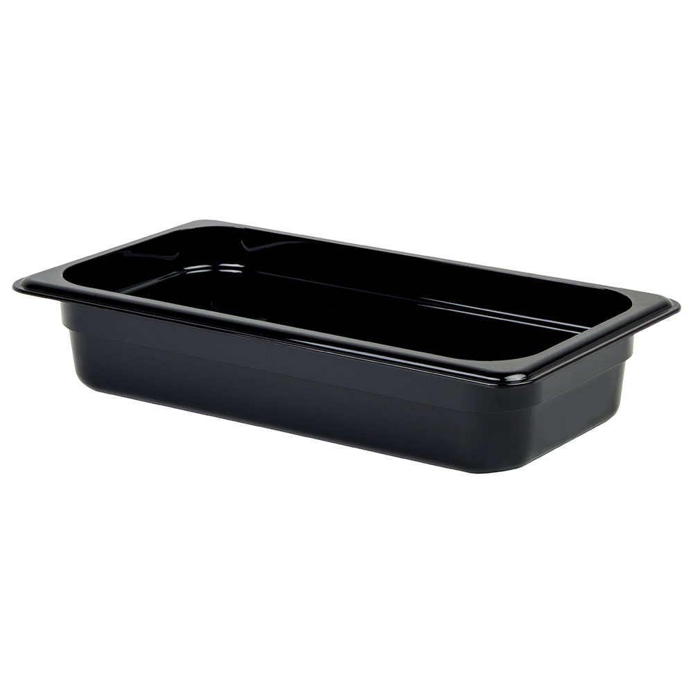 "Cambro 32CW110 Camwear Food Pan - 1/3 Size, 2-1/2""D, Black"