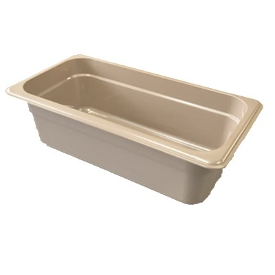 "Cambro 32HP772 X-Pan Hot Food Pan - 1/3 Size, 2-1/2""D, Non-Stick, Sandstone"