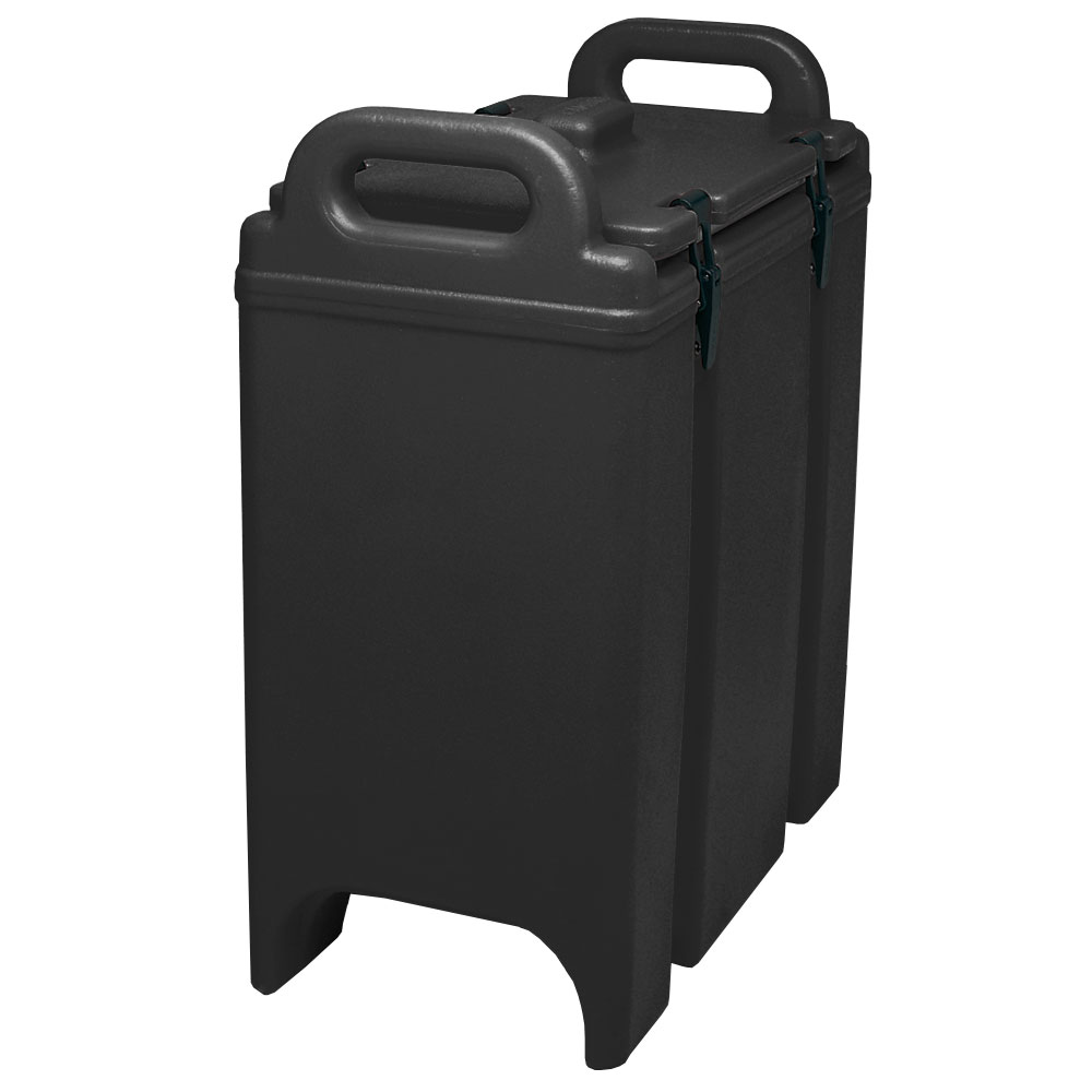 Cambro 350LCD110 3-3/8-gal Camtainer Soup Carrier - Insulated, Black