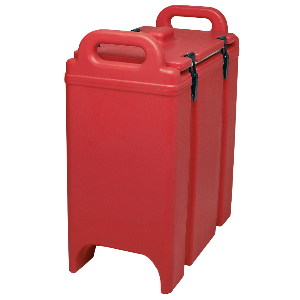 Cambro 350LCD158 3-3/8-gal Camtainer Soup Carrier - Insulated, Hot Red