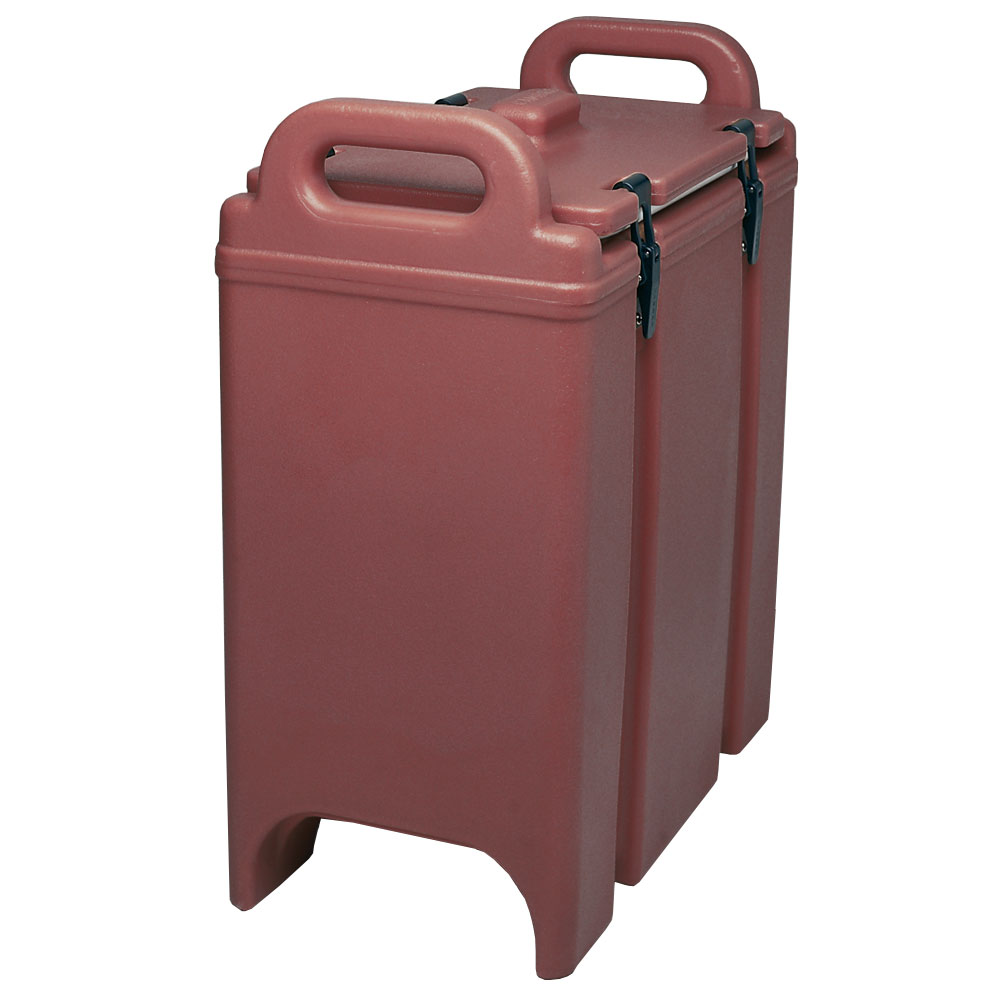 Cambro 350LCD402 3-3/8-gal Camtainer Soup Carrier - Insulated, Brick Red