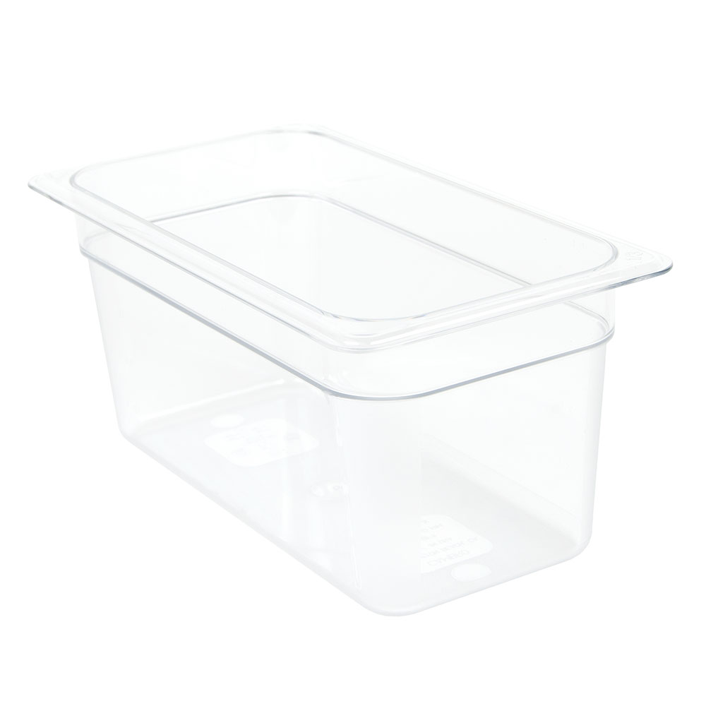 "Cambro 36CW135 Camwear Food Pan - 1/3 Size, 6""D, Clear"