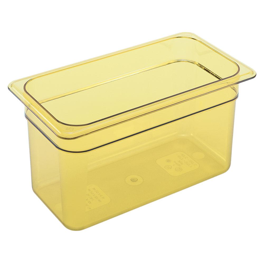 """Cambro 36HP150 H-Pan Hot Food Pan - 1/3 Size, 6""""D, Non-Stick, Amber"""