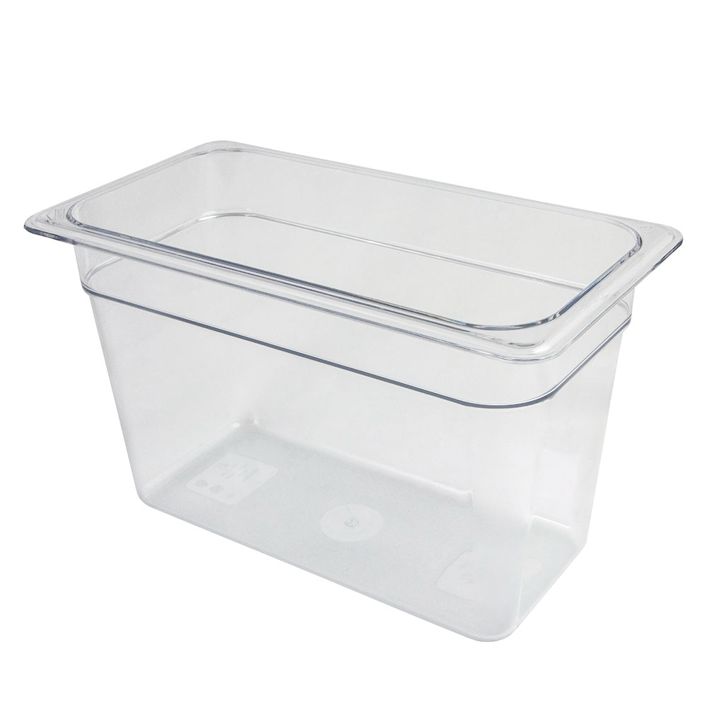 "Cambro 38CW135 Camwear Food Pan - 1/3 Size, 8""D, Clear"