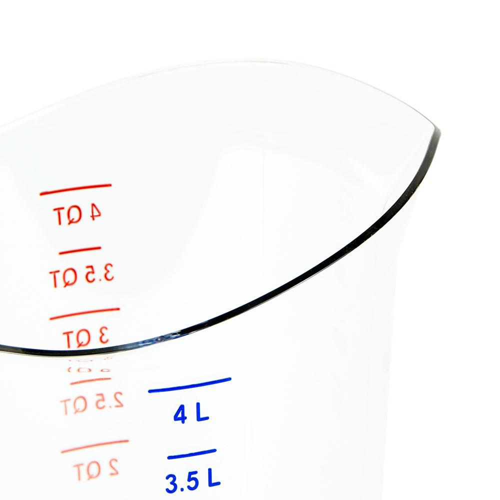Cambro 400MCCW135 4-qt Camwear Measuring Cup - Clear