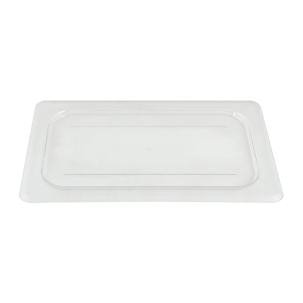 Cambro 40CWC135 Camwear Food Pan Cover - 1/4 Size, Flat, Clear