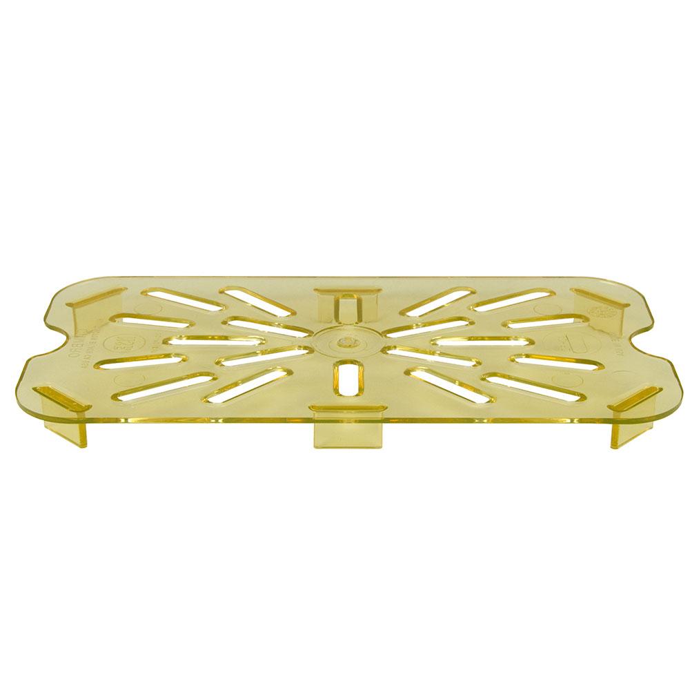 Cambro 40HPD150 H-Pan Drain Shelf - 1/4 Size, Amber