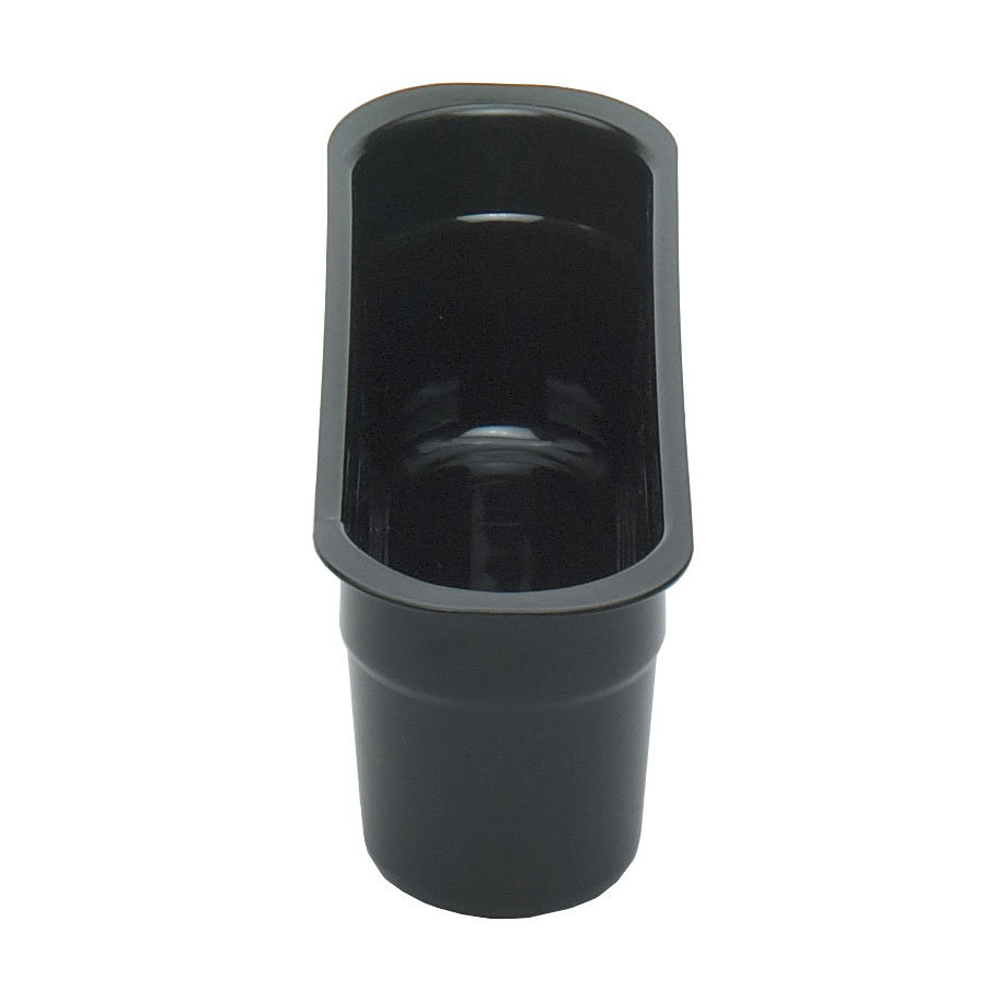 "Cambro 415CBP110 Cutlery Insert Box - 4-7/16x14-3/16x4-1/8"" Hi-Gloss Plastic, Black"