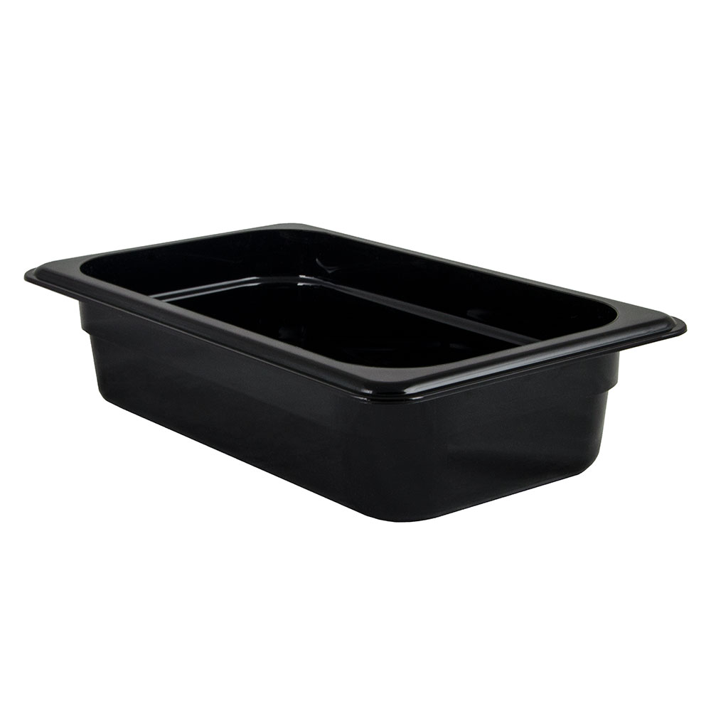 "Cambro 42CW110 Camwear Food Pan - 1/4 Size, 2-1/2""D, Black"