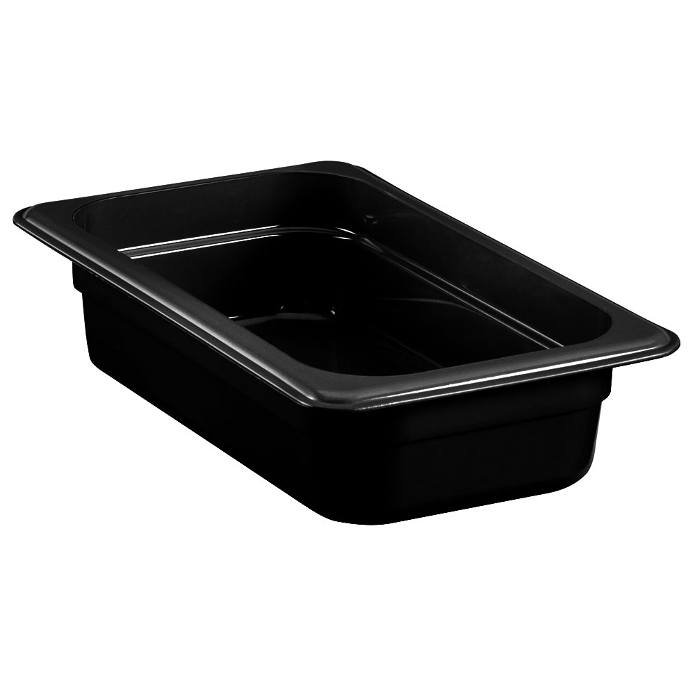 "Cambro 42HP771 High Heat 1/4 Size Food Pan - 2.5""D, Onyx"