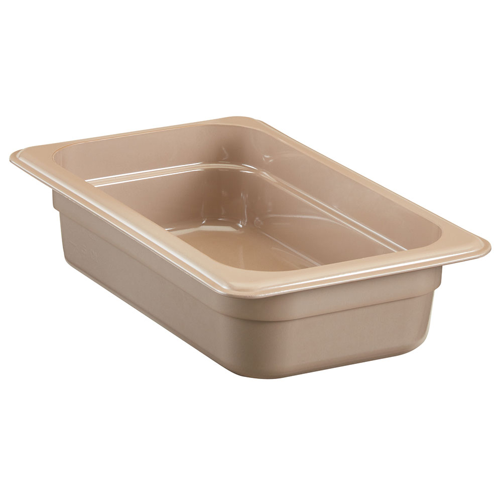 "Cambro 42HP772 High Heat 1/4 Size Food Pan - 2.5""D, Sandstone"