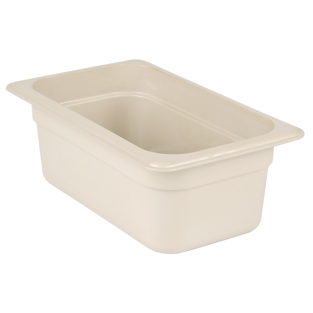 "Cambro 44HP772 X-Pan Hot Food Pan - 1/4 Size, 4""D, Non-Stick, Sandstone"