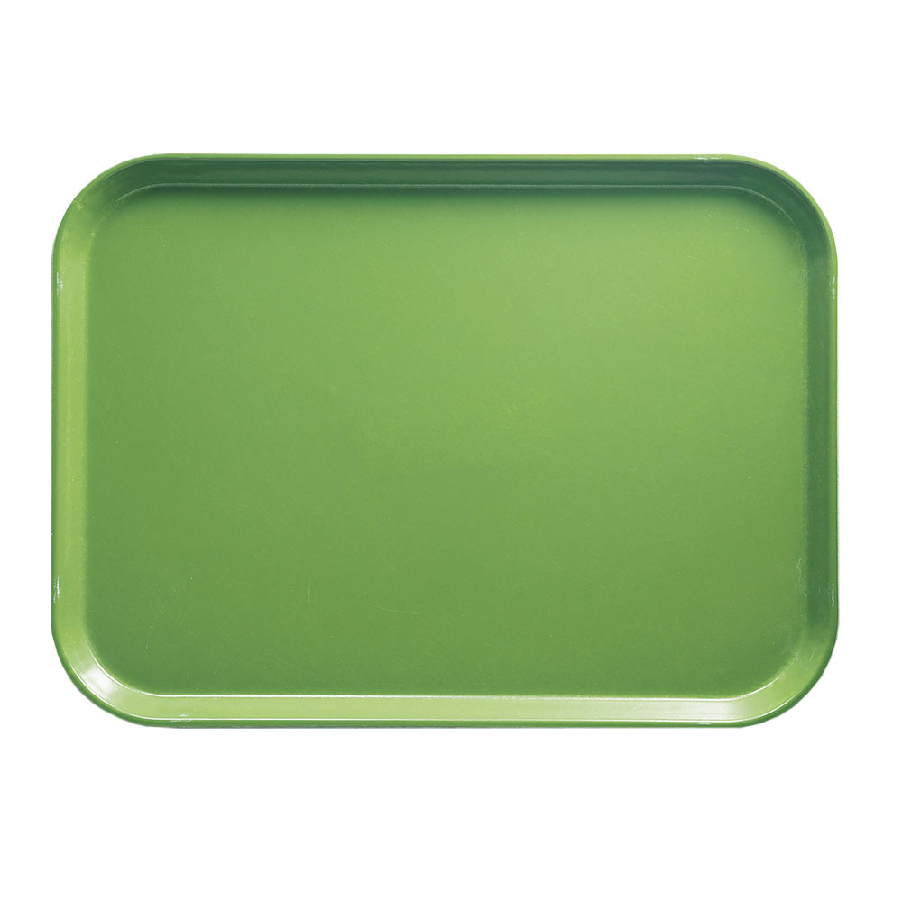"Cambro 46113 Rectangular Camtray - 4-1/4 x 6"" Limeade"