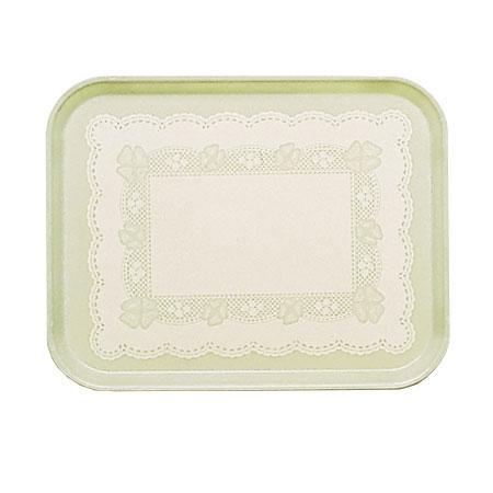 "Cambro 46241 Rectangular Camtray - 4-1/4 x 6"" Doily Antique Parchment"
