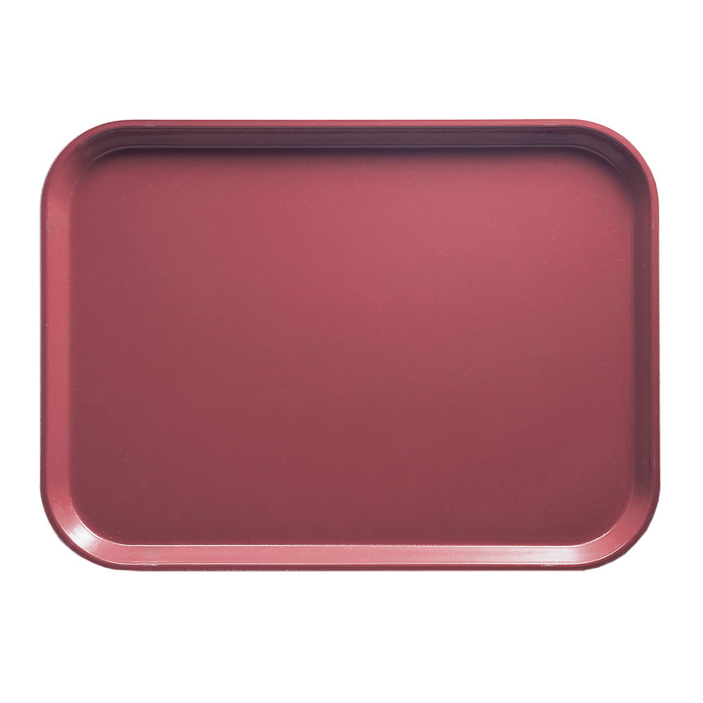 "Cambro 46410 Rectangular Camtray - 4-1/4 x 6"" Raspberry Cream"