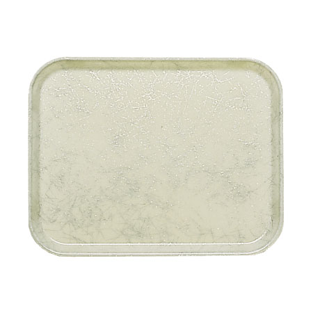 """Cambro 46531 Rectangular Camtray - 4-1/4 x 6"""" Galaxy Antique Parchment Silver"""