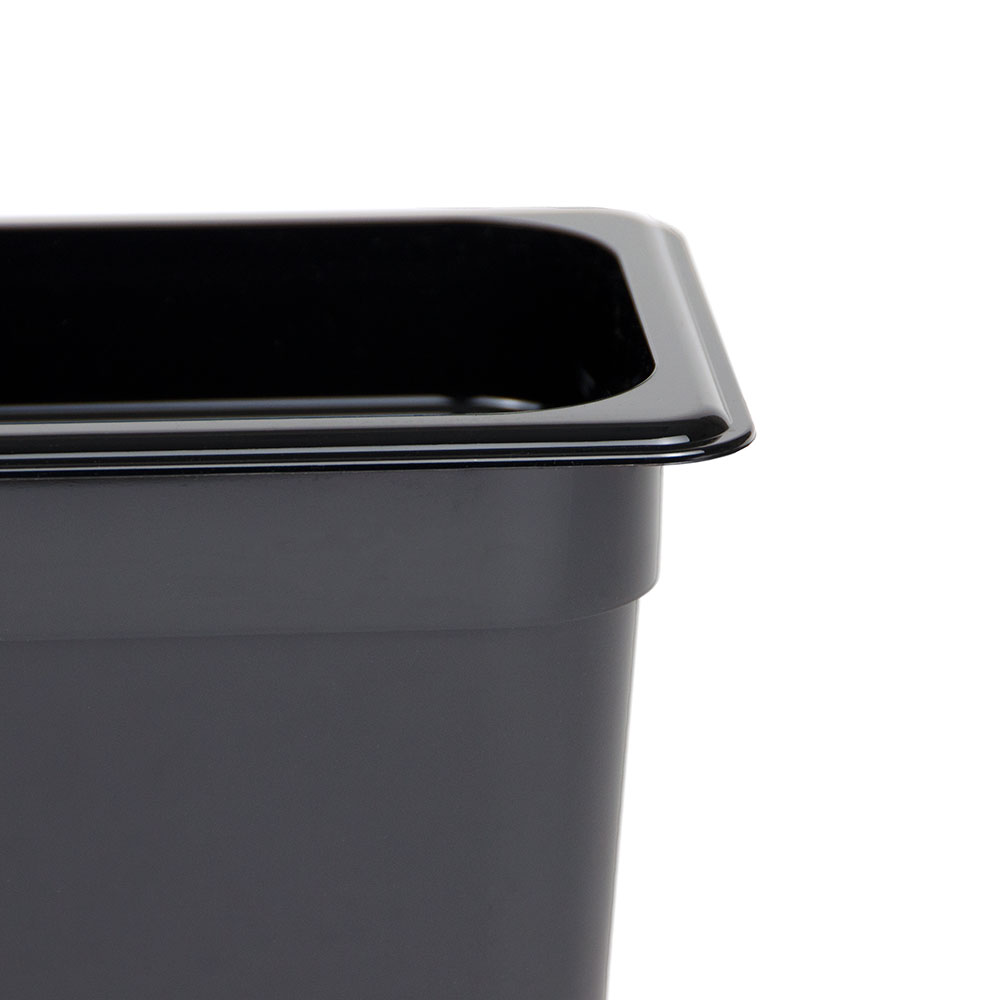 "Cambro 46CW110 Camwear Food Pan - 1/4 Size, 6""D, Black"