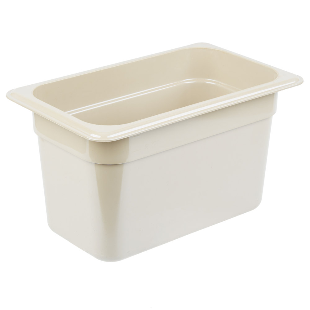 "Cambro 46HP772 X-Pan Hot Food Pan - 1/4 Size, 6""D, Non-Stick, Sandstone"