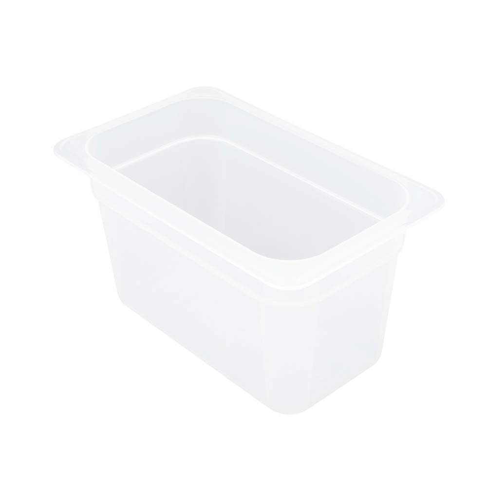 "Cambro 46PP190 Food Pan - 1/4 Size, 6""D, Translucent"