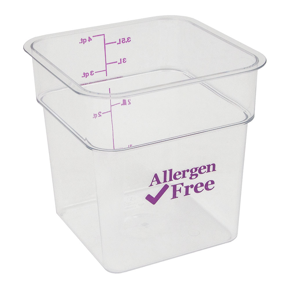 Cambro 4SFSCW441 4-qt Food Container - Allergen-Free, Polycarbonate, Clear