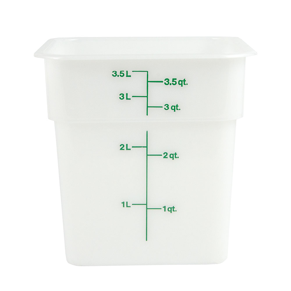 Cambro 4SFSP148 4-qt CamSquare Food Container - Natural White