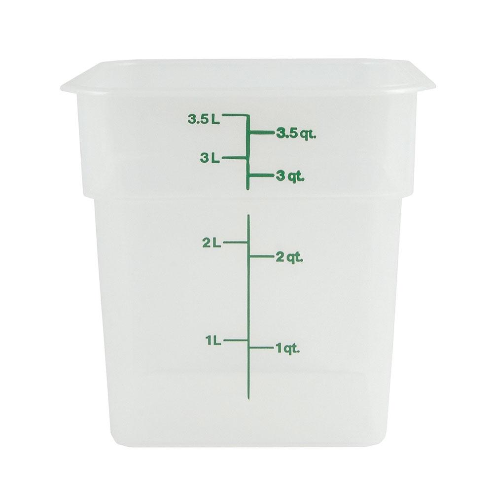 Cambro 4SFSPP190 4-qt CamSquare Food Container - Translucent