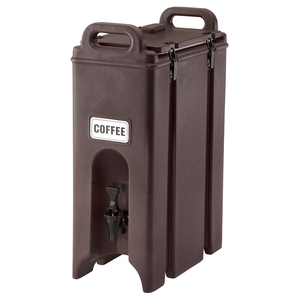Cambro 500LCD131 5-gal Camtainer Beverage Carrier - Insulated, Dark Brown