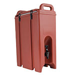 Cambro 500LCD402 5-gal Camtainer Beverage Carrier - Insulated, Brick Red