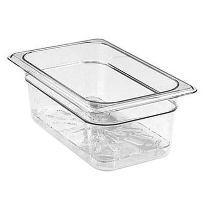 Cambro 60CWD135 Camwear Food Pan Drain Shelf - 1/6 Size, Clear