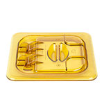Cambro 60HPL150 FlipLid Hot Food Pan Cover - 1/6 Size, Hinged, Amber