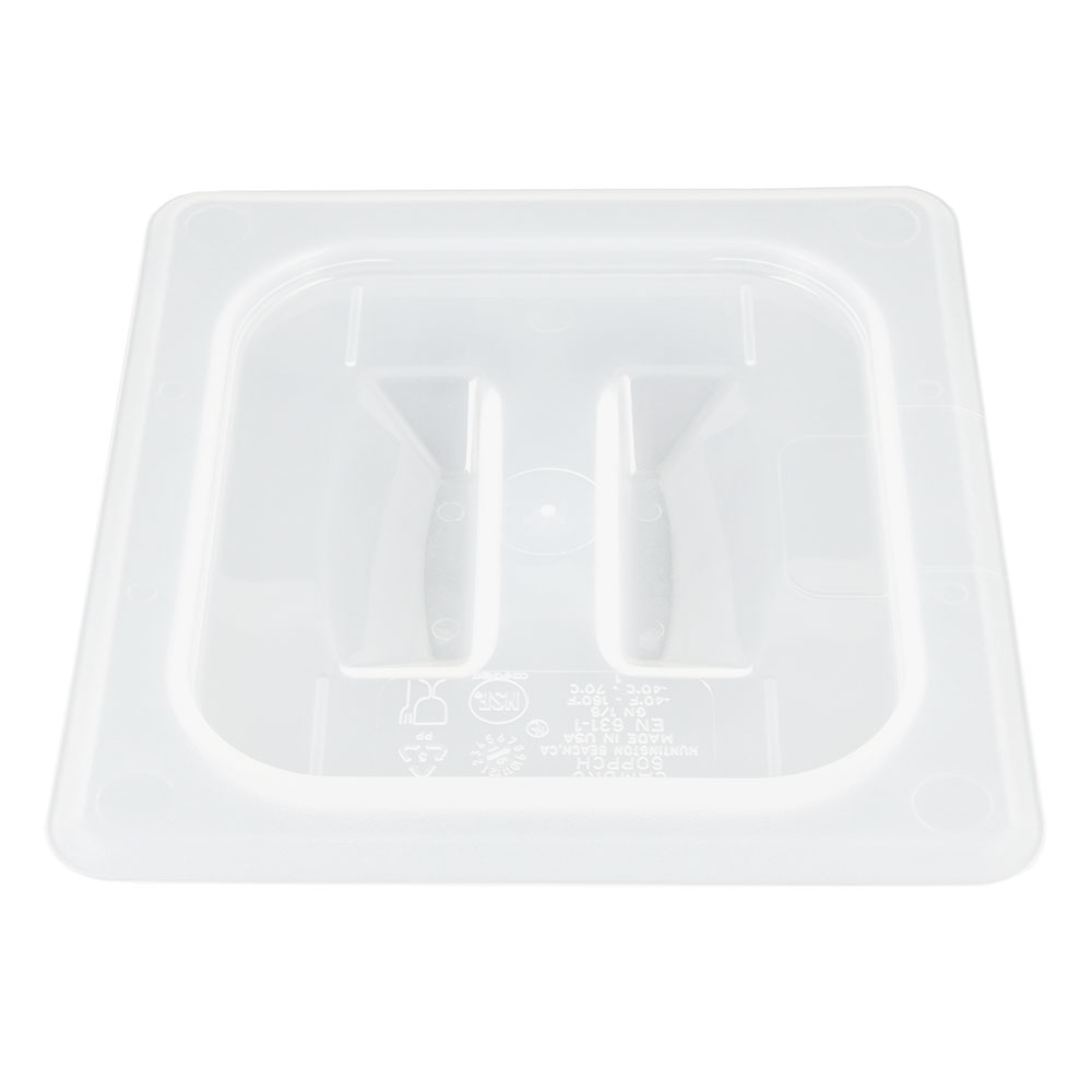 Cambro 60PPCH190 Food Pan Cover - 1/6 Size, Handle, Translucent