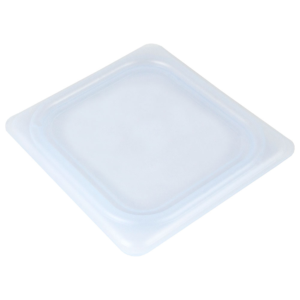 Cambro 60PPCWSC438 1/6-Size Food Pan Seal Cover - Translucent, Polypropylene, Blue, NSF